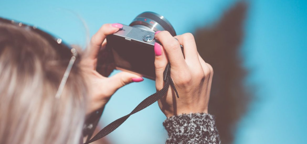 Taking a Photo with Small Camera