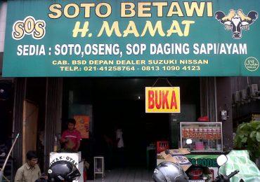 Inilah Soto Betawi Yang Paling Lezat Di Jakarta Soto Betawi H Mamat